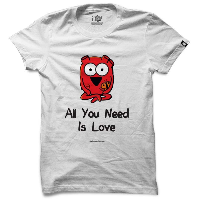 Awkward Yeti: All You Need Is Love T-Shirts | The Awkward Yeti
