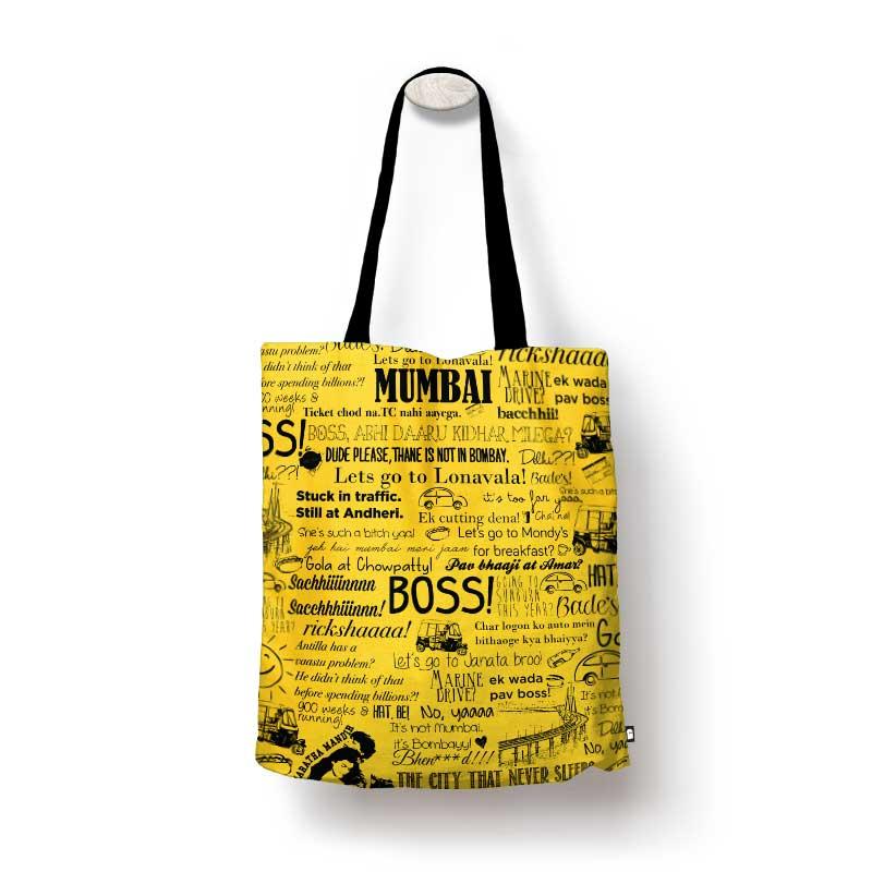 Mumbai Doodle Tote Bags | The Souled Store