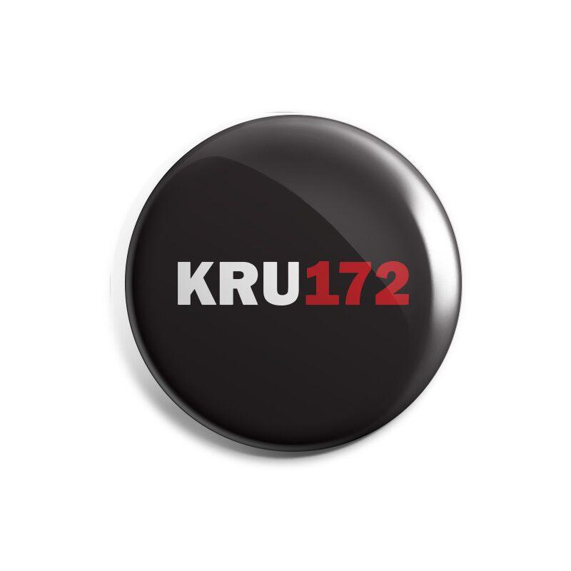 KRU172: Logo (Black) Badges   Kru172