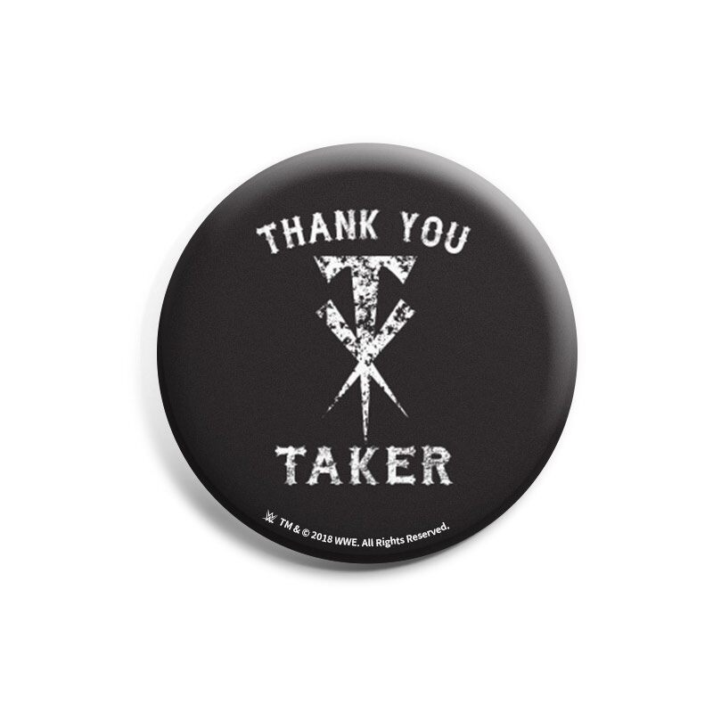"WWE: The Undertaker ""Thank You Taker"" Badges 