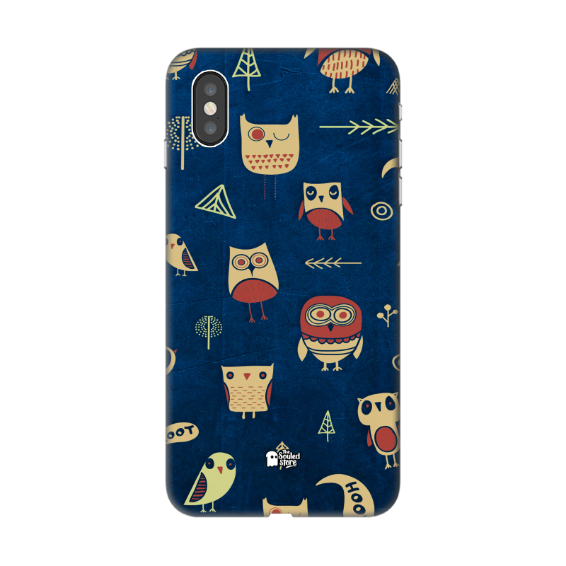 Owl Pattern (Dark) iPhone XS Max | The Souled Store