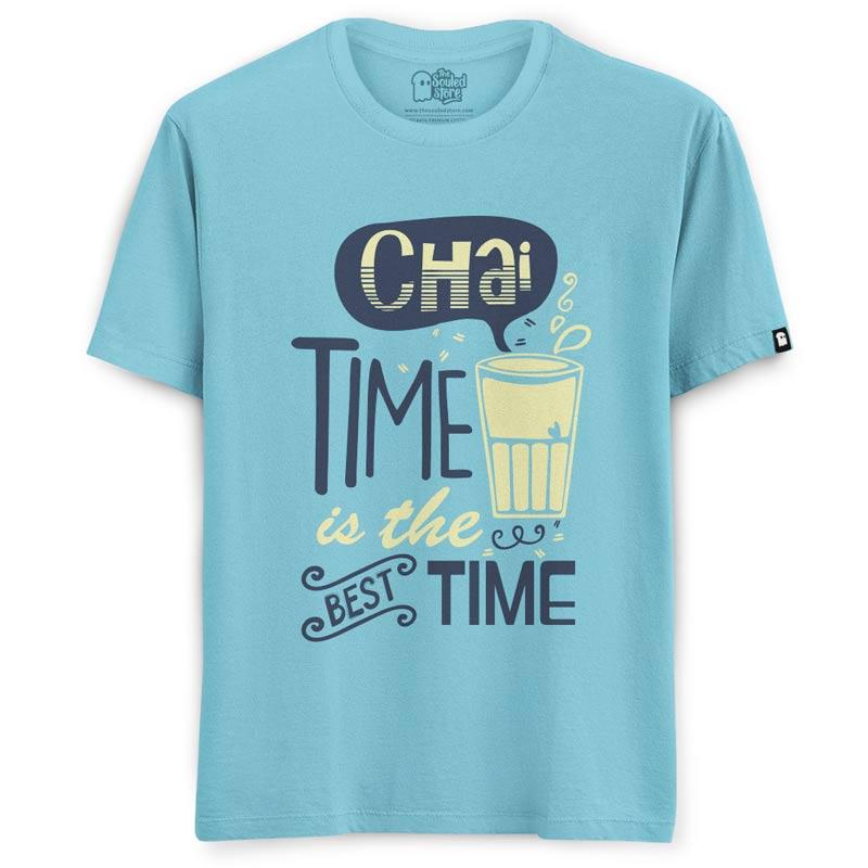 Kenny Sebastian: Chai Time (Light Blue) T-Shirts | Kenny Sebastian