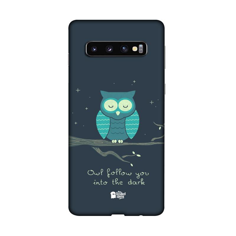 Romantic Owl Galaxy S10   Hands Off My Dinosaur