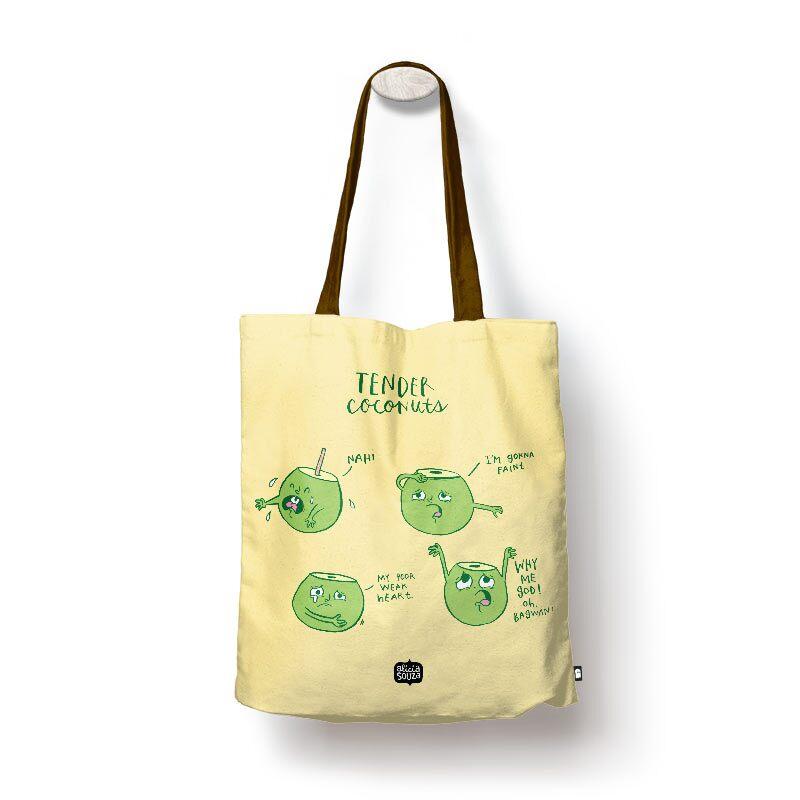 Alicia Souza: Tender Coconuts Tote Bags | Alicia Souza