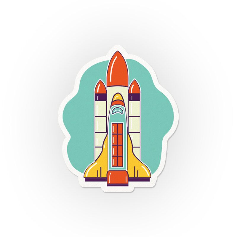 Rocket Stickers | The Souled Store
