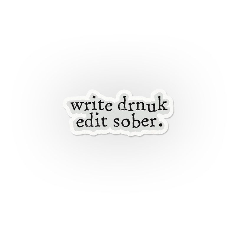 Write Drunk Stickers | The Souled Store
