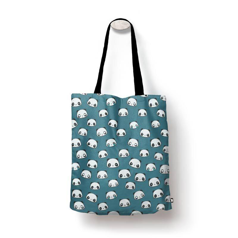 Panda Pattern Tote Bags   The Souled Store