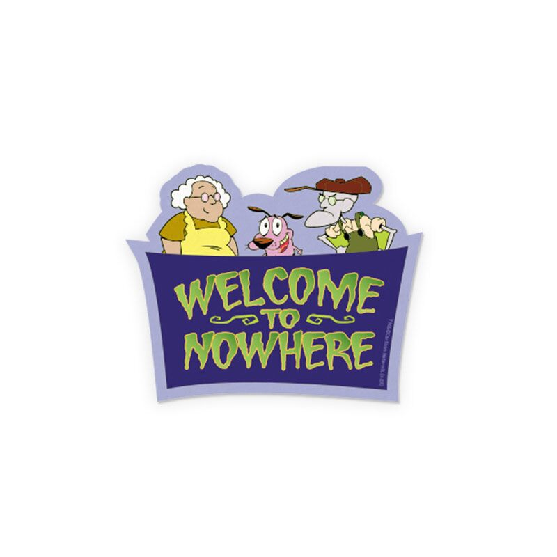 Courage: Welcome To Nowhere Stickers | Courage The Cowardly Dog