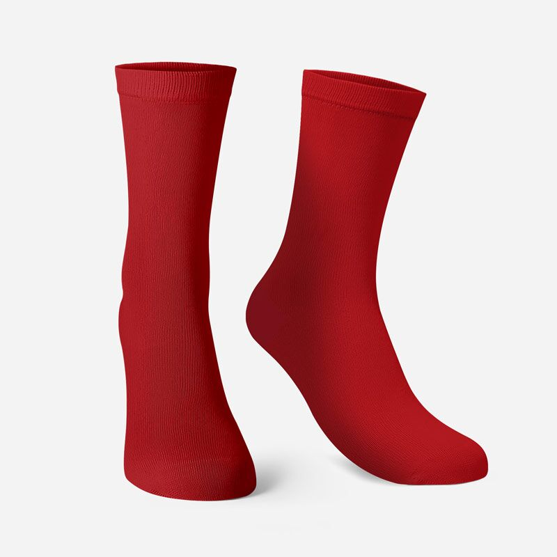 Solids: Red Socks | The Souled Store
