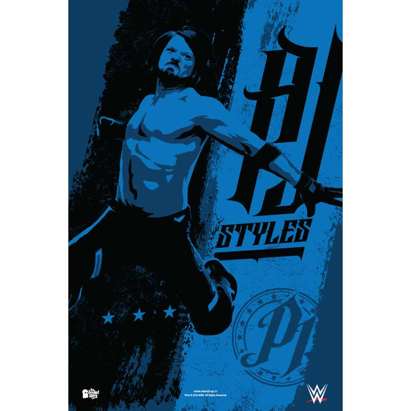 WWE: AJ Styles Graphic Posters | WWE®