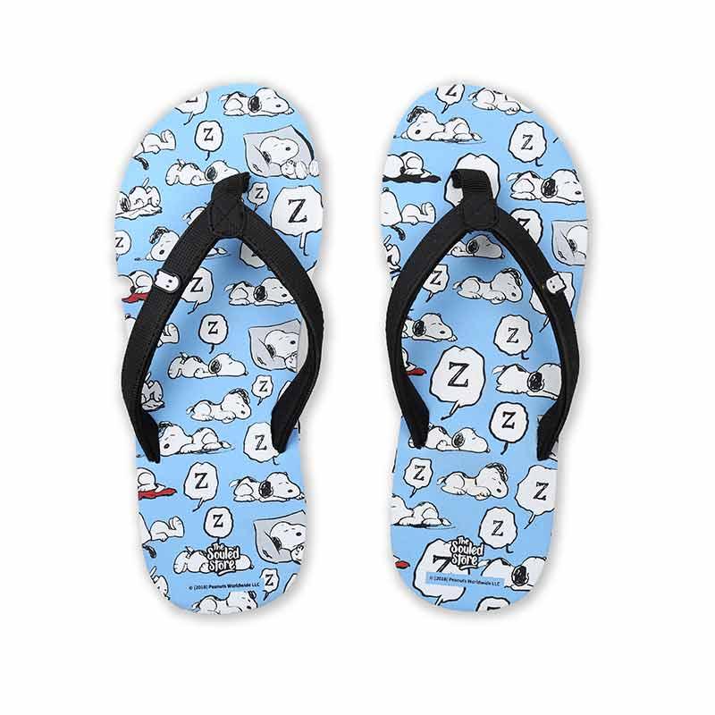 Peanuts: Snoopy Pattern Flip Flops | Peanuts™