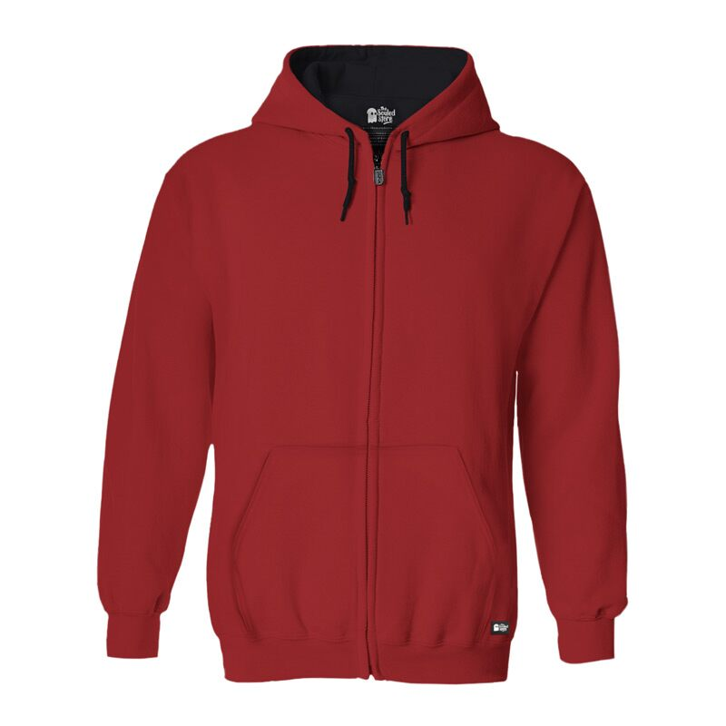 Solids: Brick Red Hoodies | The Souled Store