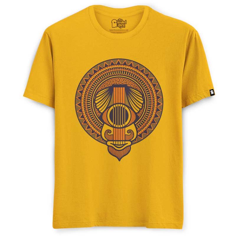Anand Bhaskar: Turban Guy (Yellow) T-Shirts   Anand Bhaskar Collective