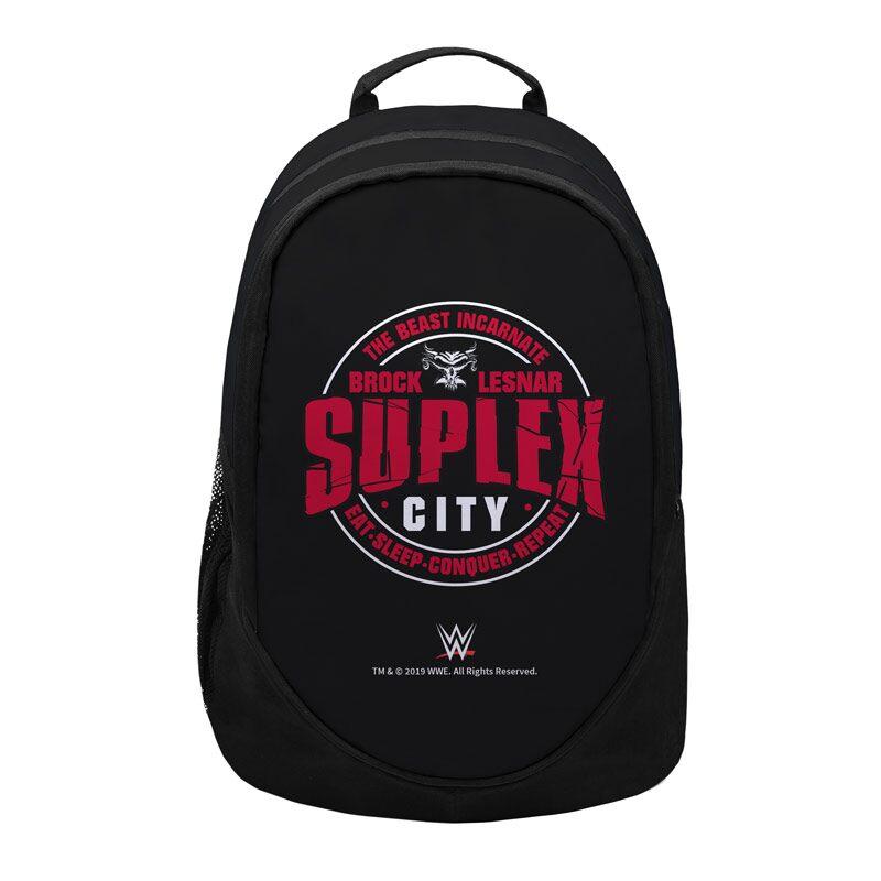 "WWE: Brock Lesnar ""Eat Sleep Conquer"" Backpacks | WWE®"