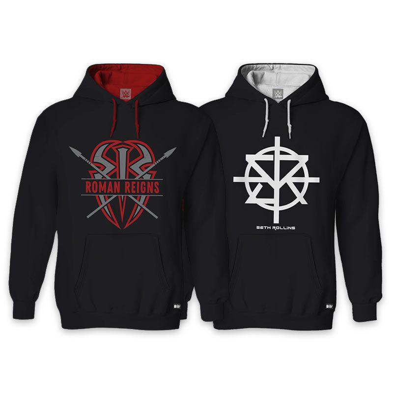 Pack Of Two: Roman Reigns & Seth Rollins Hoodies | WWE®